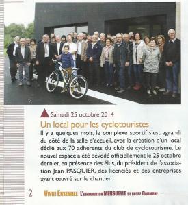 Inauguration local cyclo
